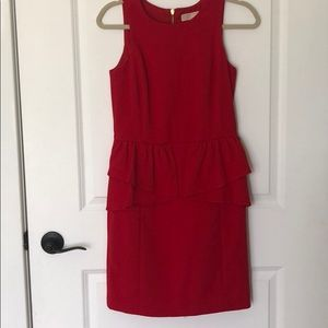 Michael Kors Red peplum ruffle dress sz 2